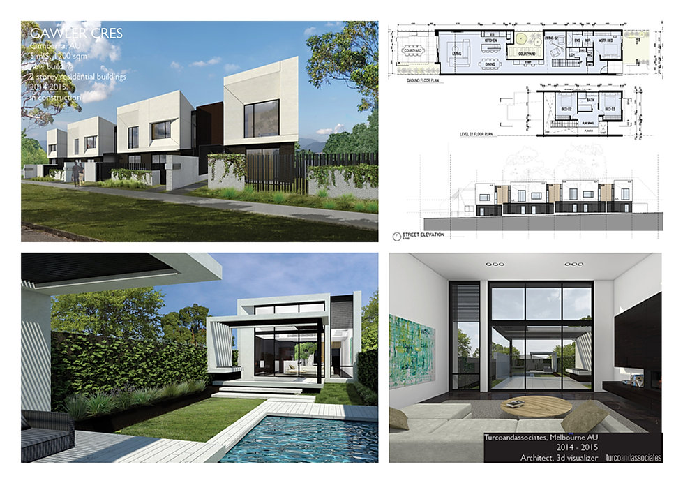 Gawler Cres, residential develoment, Camberra