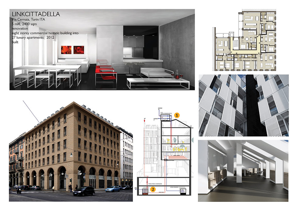 Turin, Project, Link cittadella, luxury apartment turin
