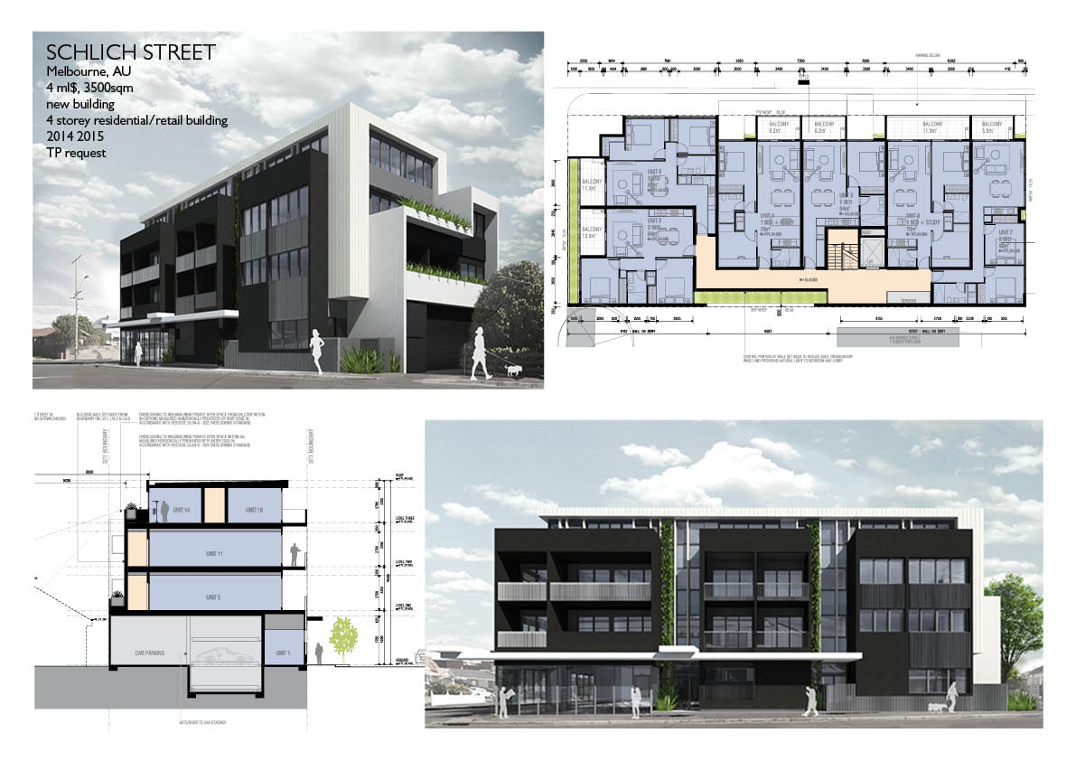 Mixed use building town planning Melbour