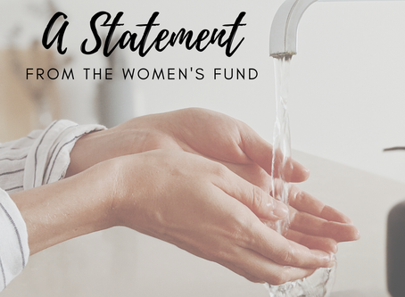 A Statement from The Women's Fund