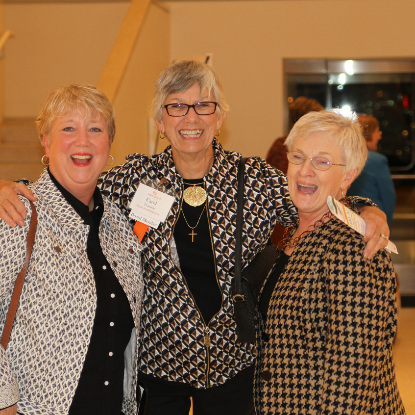 Becky Haas, Carol Transou, and Cynthia Burnley after the forum.