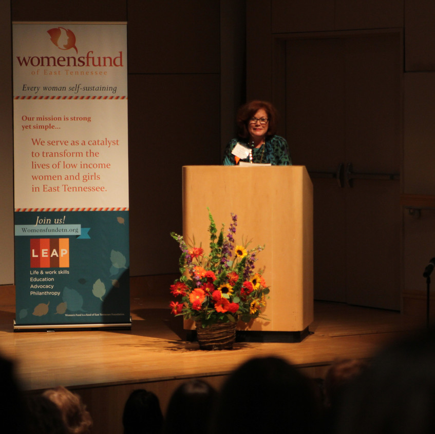 Terry Morgan, Executive Director of the Women's Fund, welcomes and thanks everyone for attending.
