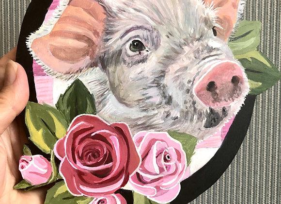 Small Animal Portrait Plaque Custom Commission