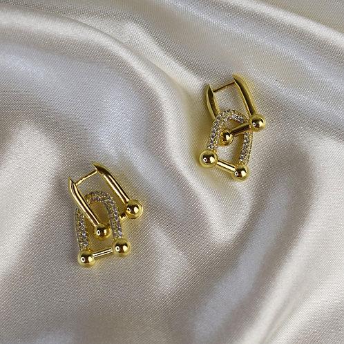 Lock Buckle Earrings