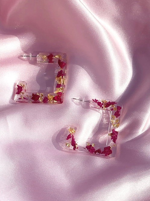 Square Resin Hoops