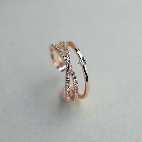 Elegance Double Ring Rose Gold