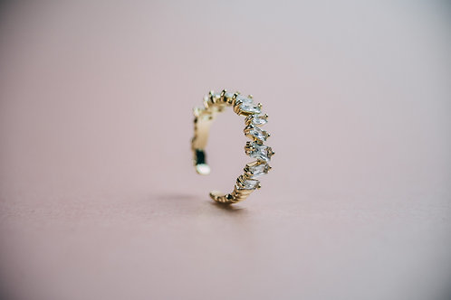 Clarity Cubic Zirconia Ring Gold