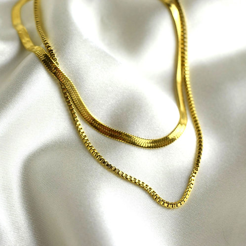 Snake Chain Layer Necklace