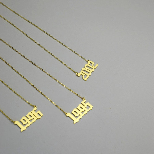 Birth Year Pendant Necklace