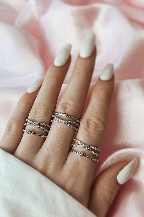 Elegance Double Ring Silver