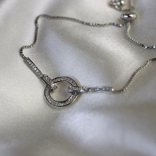 Angela Circle Bracelet Silver