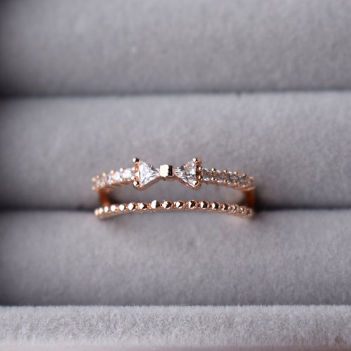 Bow Double Ring