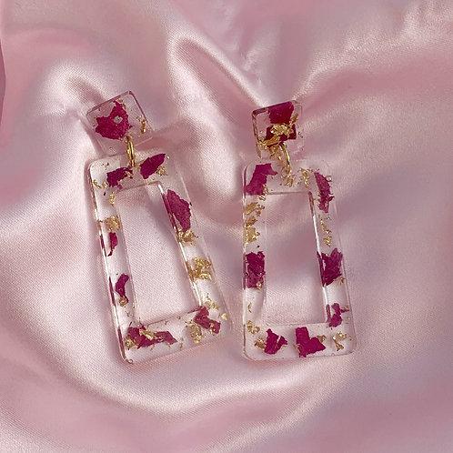 Square Resin Dangle Earrings