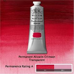 Winsor and Newton Permanent Alizarin Crimson Professional Acrylic