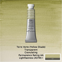 Winsor and Newton Terre Verte Yellow Shade Professional Watercolour