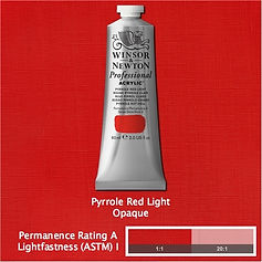 Winsor and Newton Pyrrole Red Light Professional Acrylic