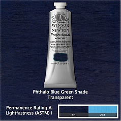 Winsor and Newton Phthalo Blue Green Shade Professional Acrylic