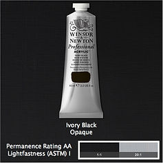 Winsor and Newton Ivory Black Professional Acrylic