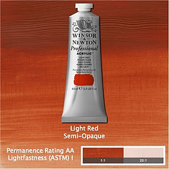 Winsor and Newton Light Red Professional Acrylic