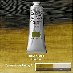 Winsor and Newton Olive Green Professional Acrylic