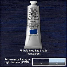 Winsor and Newton Phthalo Blue Red Shade Professional Acrylic