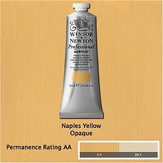 Winsor and Newton Naples Yellow Professional Acrylic