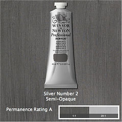 Winsor and Newton Silver Number 2 Professional Acrylic
