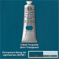 Winsor and Newton Cobalt Turquoise Professional Acrylic