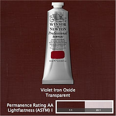 Winsor and Newton Violet Iron Oxide Professional Acrylic