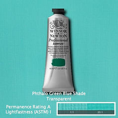 Winsor and Newton Phthalo Green Blue Shade Professional Acrylic