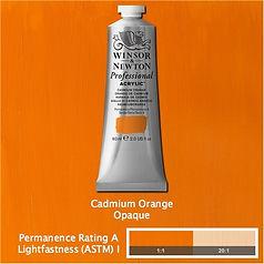 Winsor and Newton Cadmium Orange Professional Acrylic