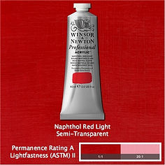 Winsor and Newton Naphthol Red Light Professional Acrylic