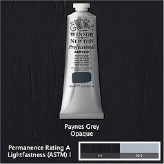 Winsor and Newton Payne's Grey Professional Acrylic