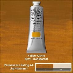 Winsor and Newton Yellow Ochre Professional Acrylic