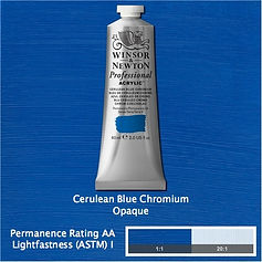 Winsor and Newton Cerulean Blue Chromium Professional Acrylic