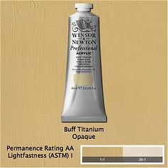 Winsor and Newton Buff Titanium Professional Acrylic