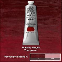 Winsor and Newton Perylene Maroon Professional Acrylic