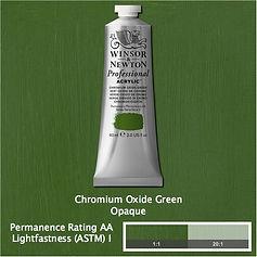 Winsor and Newton Chromium Oxide Green Professional Acrylic