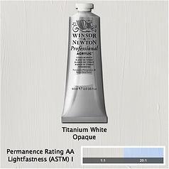 Winsor and Newton Titanium White Professional Acrylic