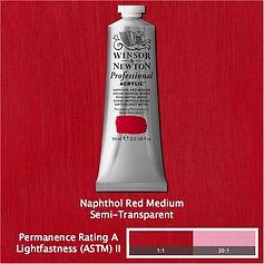 Winsor and Newton Naphthol Red Medium Professional Acrylic