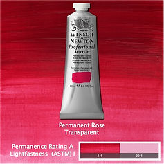 Winsor and Newton Permanent Rose Professional Acrylic