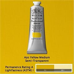 Winsor and Newton Azo Yellow Medium Professional Acrylic