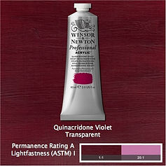 Winsor and Newton Quinacridone Violet Professional Acrylic