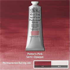 Winsor and Newton Potter's Pink Professional Acrylic