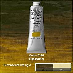 Winsor and Newton Green Gold Professional Acrylic