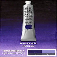 Winsor and Newton Dioxazine Violet Professional Acrylic