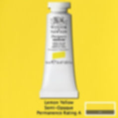 Winsor and Newton Lemon Yellow Designers Gouache