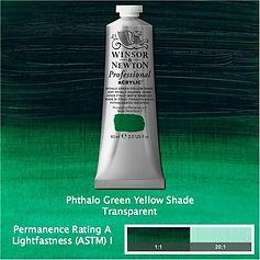 Winsor and Newton Phthalo Green Yellow Shade Professional Acrylic