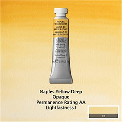Winsor and Newton Naples Yellow Deep Professional Watercolour