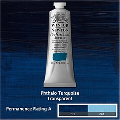 Winsor and Newton Phthalo Turquoise Professional Acrylic